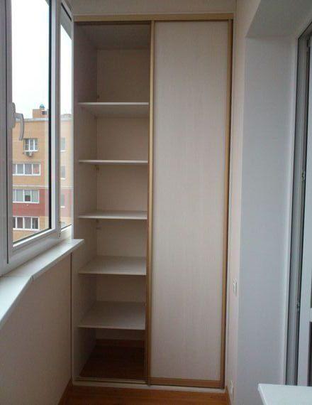 Стильные шкафы на балкон на заказ. шкафы-купе на балкон..