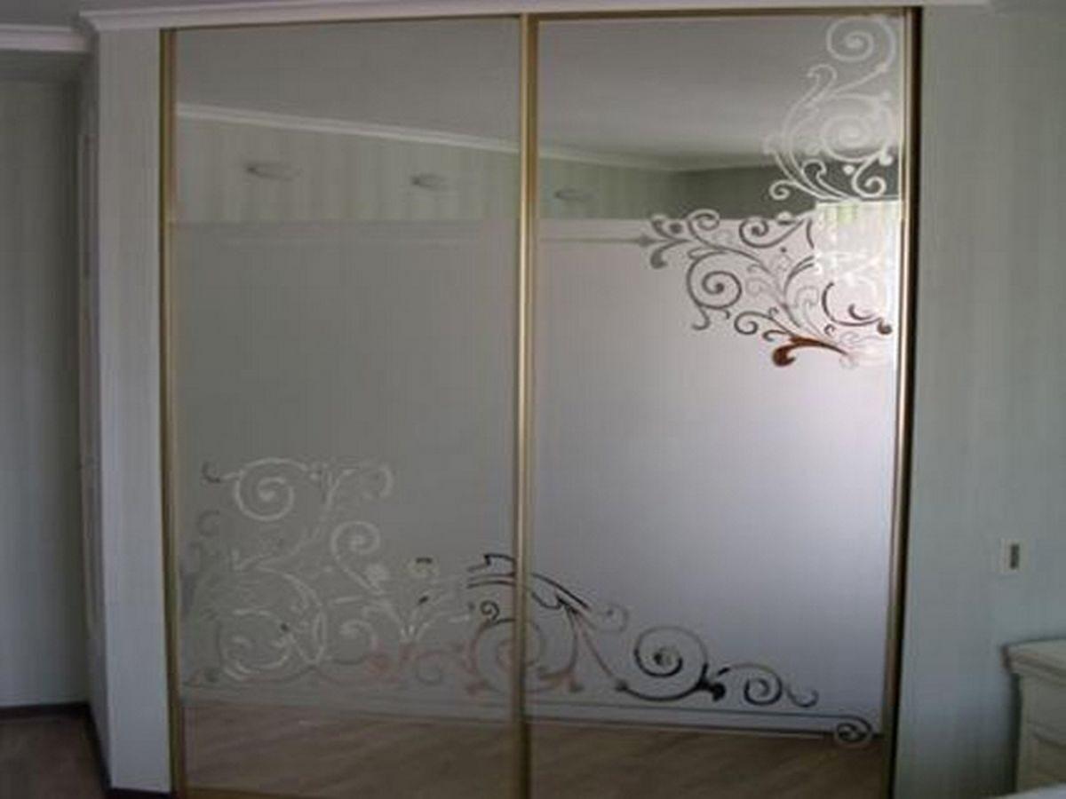 фото шкафы с пескоструйным рисунком